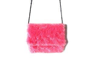 Bolsa Infantil de Pelúcia Rosa Pink - Dali Shoes