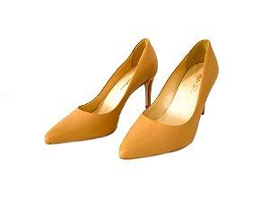 Scarpin Bico Fino e Salto Fino Nude - Dali Shoes