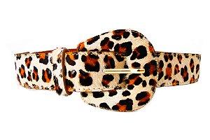 Cinto Couro Dali Shoes Animal Print Oncinha