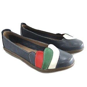 Sapatilha Couro Dali Shoes Bico Redondo