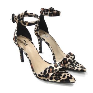 Sandalia Dali Shoes Salto Alto Fino Animal Print
