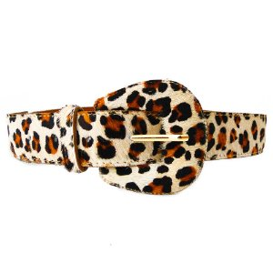 Cinto Couro Dali Shoes Animal Print