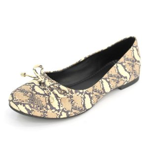 Sapatilha Dali Shoes Cetim Bico Redondo Animal Print