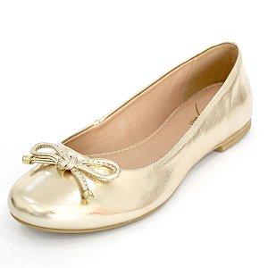 Sapatilha Dali Shoes Cetim Bico Redondo e Lacinho