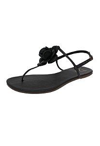 Rasteirinha Dali Shoes T-Strap com Flor