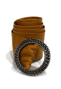 Cinto Couro Dali Shoes Faixa e Fivela Redonda