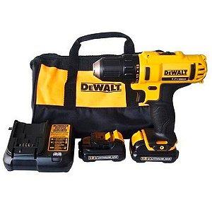 """Furadeira Parafusadeira Dewalt 3/8"""" com 2 baterias 12 volts de lítio - DCD710D2"""