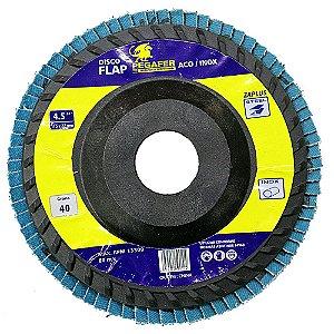 Disco Flap De 4-1/2 Pol. Grão 120 Para Metal - Madeira