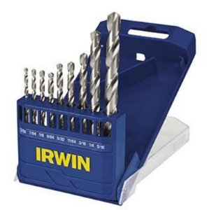 "Conjunto de Brocas para Metal de 9 Peças 3/32"" a 5/16"" - Irwin 1865291"