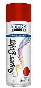 Tinta Spray Super Color Vermelho Metálico com 350ml / 250g - TEKBOND