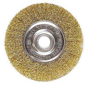 Escova Circular em Aço 150mm C/ Furo de 22mm - MTX