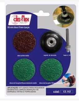 Kit Mini Disco 51mm 4 pçs. - DIS-FLEX