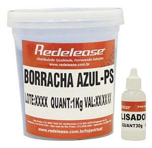 Borracha De Silicone Azul Alta Flexibilidade para Moldes (Com Catalisador) (1,030 Kg) - Redelease