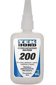 Cola de Adesivo Instantâneo 200 100g - Tekbond