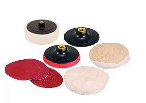 Discos para Lixar e Polir + Suporte Com Pluma Fixa Fácil 7 Pol. (Politriz)- VONDER