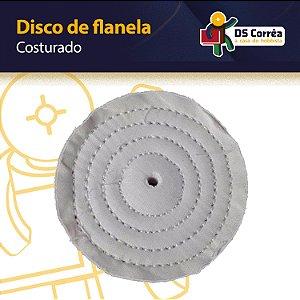 """Disco de Flanela Costurado - Para Polimento - 6""""- 150MM"""
