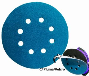 """Disco de Lixa Com Velcro 125mm 5"""" com Furo Grão 60"""