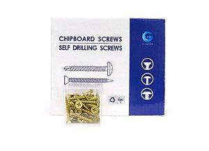 Parafuso Philips Chipboard Para Madeira 4.0 X30 Caixa C/ 1000 Pçs - GTR