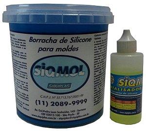 Siqmol 6014  Borracha de Silicone + Catalisador 1,040 Kg- SIQUIPLÁS