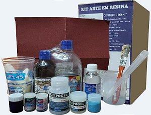 Kit Epóxi Resina - Arte em resina - SIQUIPLÁS