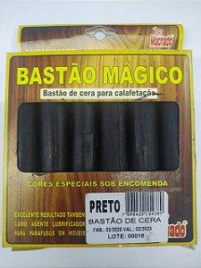 BASTÃO DE CERA PARA CORREÇÃO DE MADEIRA PRETO CAIXA C/ 6 - MACHADO