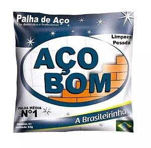 PALHA DE AÇO Nº 01 MÉDIA - AÇO BOM