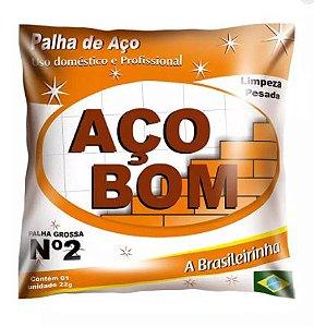 PALHA DE AÇO Nº 02 MÉDIA - AÇO BOM