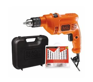 KIT FURADEIRA IMPACTO 8'' 10MM 127V C/MALETA + 9 BROCAS - BLACK DECKER