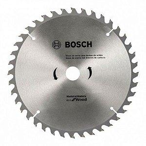 DISCO DE SERRA CIRCULAR ECO (7 1/4'') 184X20/16MM (5/8'') 40D - BOSCH