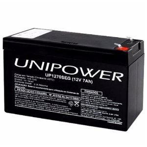 Bateria Estacionária Nobreak VRLA 12V 7Ah UNIPOWER UP1270E