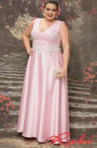 dad374997 Vestido infantil rosa bebê com renda prata - Rubi Trajes Finos