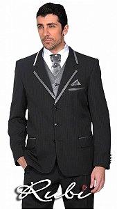 Terno noivo de Risca , modelo padrão com detalhe prata