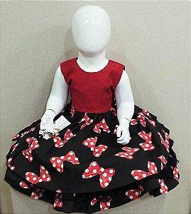 Vestido minnie infantil vermelho