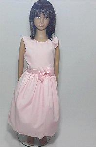 Vestido infantil rosa bebê , com laço na cintura tam: 16