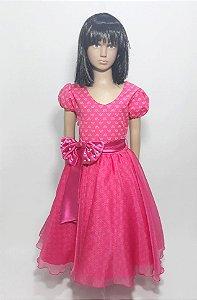Vestido infantil pink , com laço na cintura tam :10