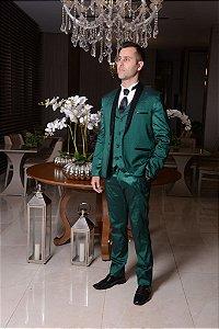 Terno Verde Slim Com Detalhe preto nº 42/40