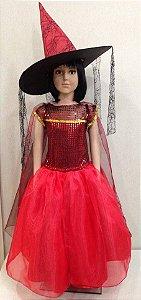 Fantasia Bruxa Halloween Infantil  Tam: P/M/G