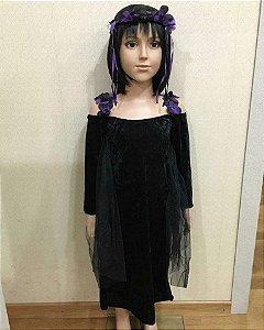 Fantasia Bruxa Halloween Infantil tam:P