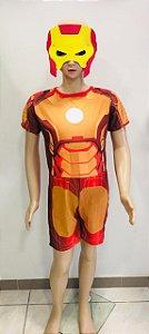 Fantasia Homem de Ferro Macacão Curto   tam: G