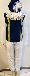 Fantasia Principe Adulto Camisa , Calça , Chapéu  Tamanho : G
