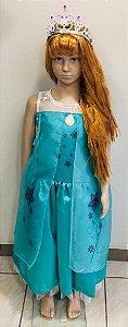 Vestido Fantasia Infantil Princesa Frozen Elsa Fever tam: 6