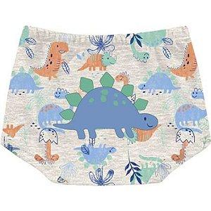 Kit Shorts Cobre Fraldas Bebê Unissex Little Dino Tricolor Kiko Baby