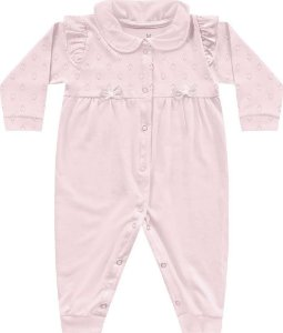 Macacão Bebê Menina Algodão Frutinhas Bailarina Rosa Kiko Baby