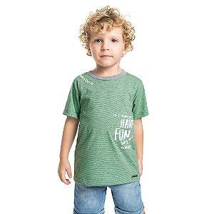 Camiseta Infantil Menino Have Fun Verde Claro