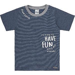 Camiseta Infantil Menino Have Fun Marinho