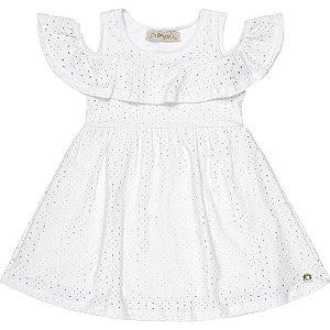 Vestido Infantil Laise Babadinhos Branco