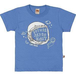 Camiseta Infantil Menino Astronauta Azul