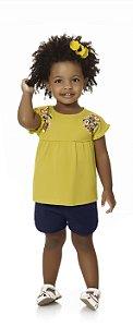 Bata Blusa Bebê Menina Infantil Flores