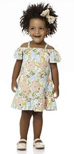 Vestido Bebê Infantil Ciganinha Verão Algodão