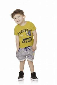 Conjunto Bebê Menino Infantil Camiseta Bermuda Moleton Daddy